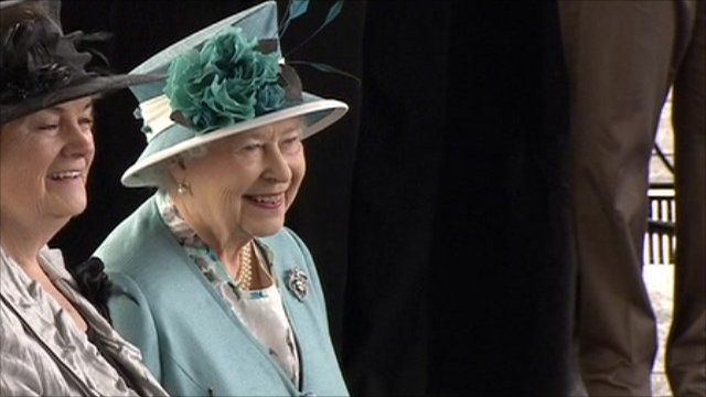 The Queen at the Welsh Senedd