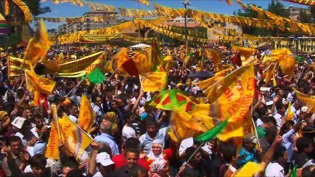 A BDP rally in Diyarbakir