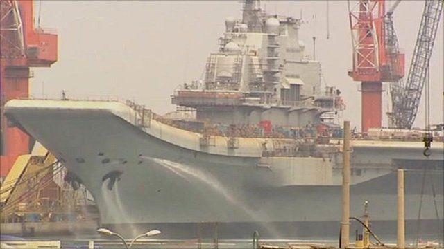 Chinese aircraft carrier Varyag