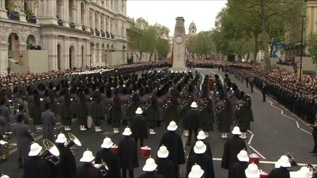 Remembrance service at the Cenotaph in London