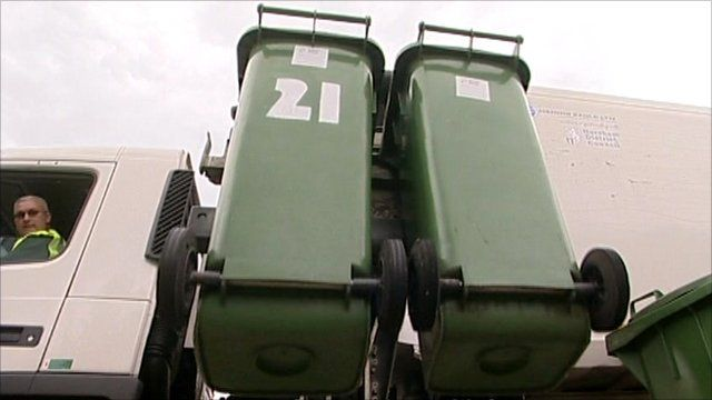 Bins being collected