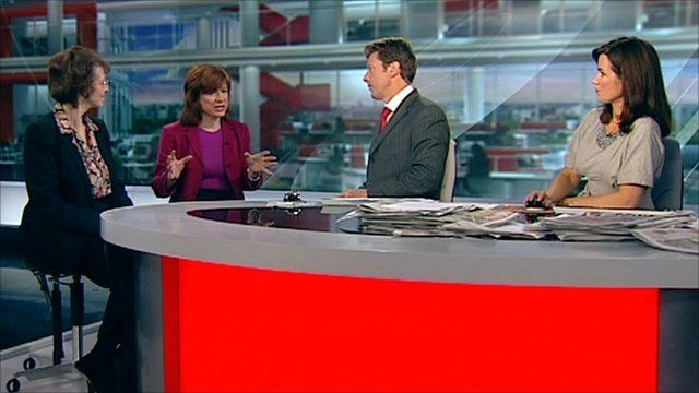 (Left to right) Susan Fleisher from NOFAS UK, Dr Sarah Jarvis, speaking on BBC Breakfast