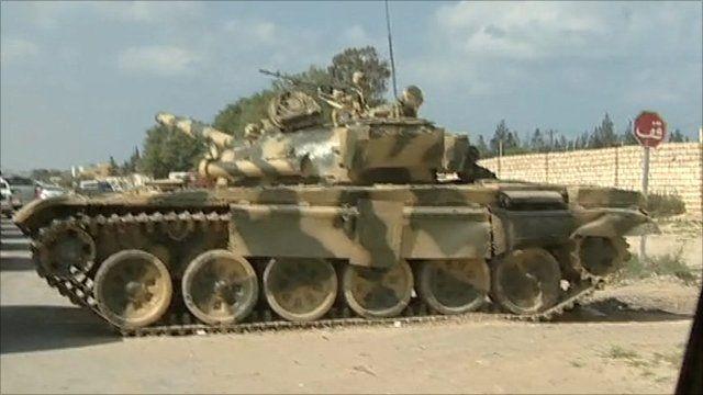 Rebel forces near Misrata in western Libya