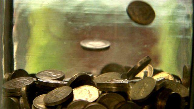 Coins in a jar