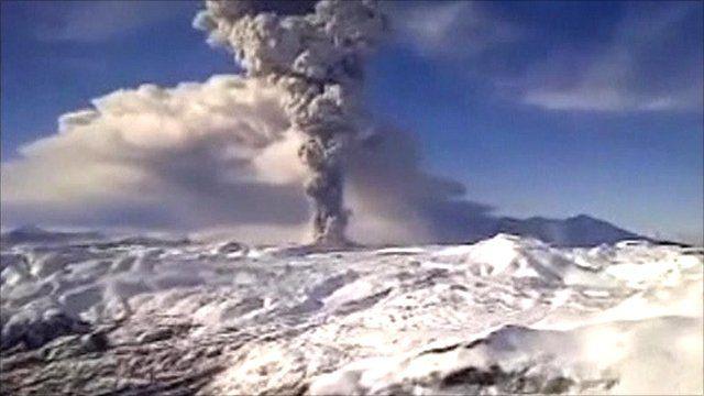 Chile volcano ash plume