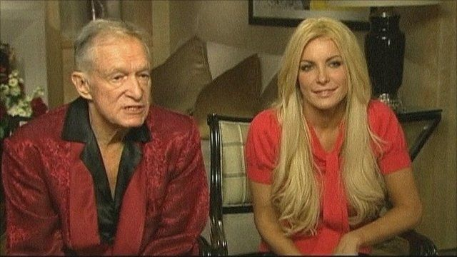 Hugh Heffner and Crystal Harris