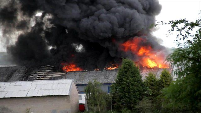 Fire at an industrial unit in Cleland