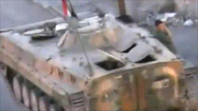 Tanks enter Syrian city of Deraa