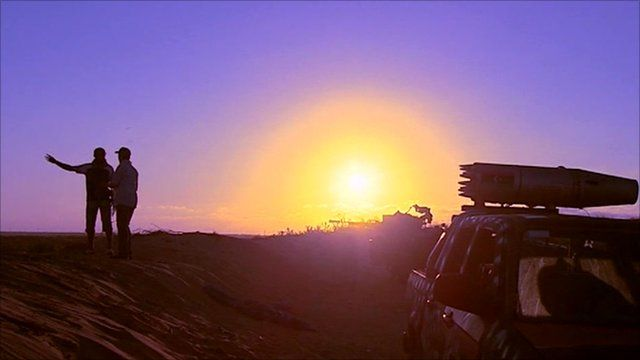Rebel front line in Libya