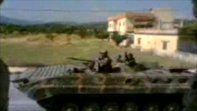 Footage said to show tanks in Bdama