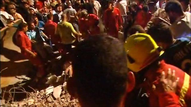 Tripoli rescue scene