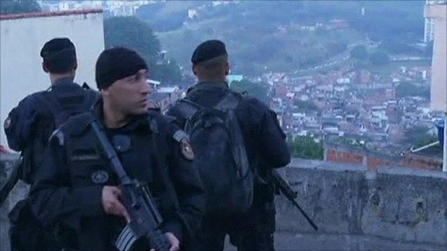 Police in Rio, Brazil