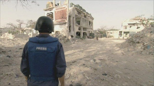 The BBC's Peter Greste on the Somali front line