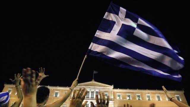 Protests in Athens outside Greek Parliament