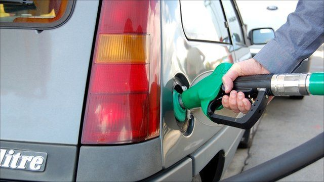 Car being filled with petrol
