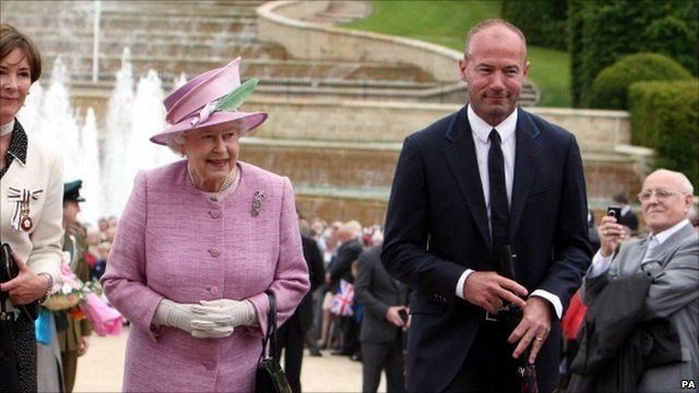 The Queen and Alan Shearer