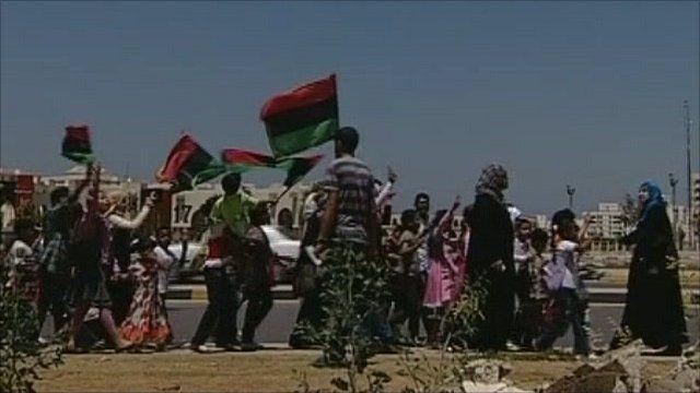 Children protesting in Benghazi