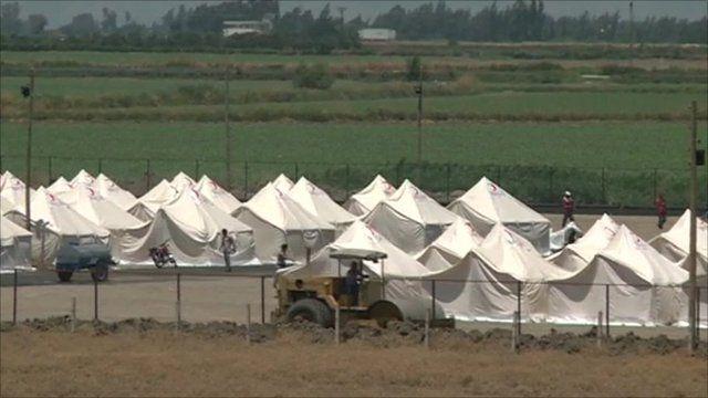 Refugee camp in Turkey