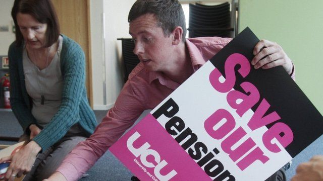 Preparations for pension strike