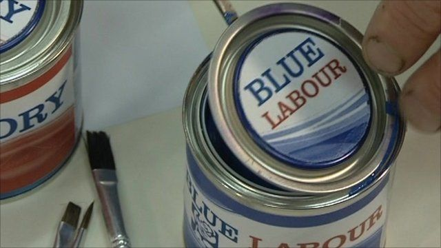Blue Labour paint pot