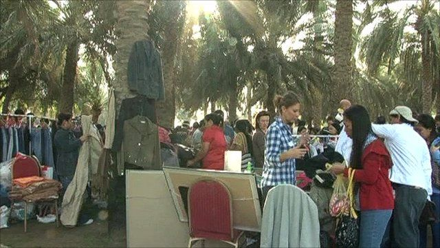 Buying and selling at Dubai's flea market