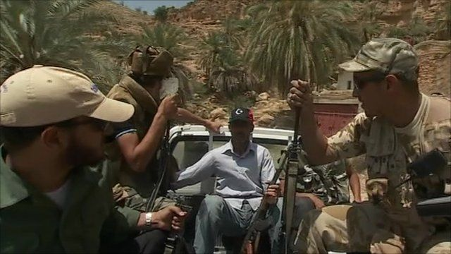 Libyan rebels in Nafusa mountains