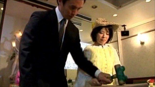 Tomoharu and Miki Saito