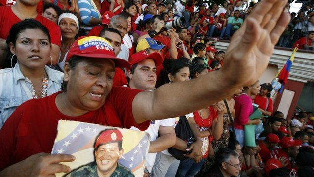 Chavez supporters in Venezuela