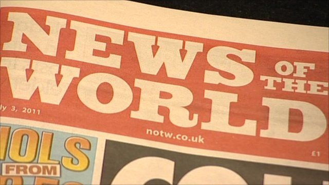 News of the World front page