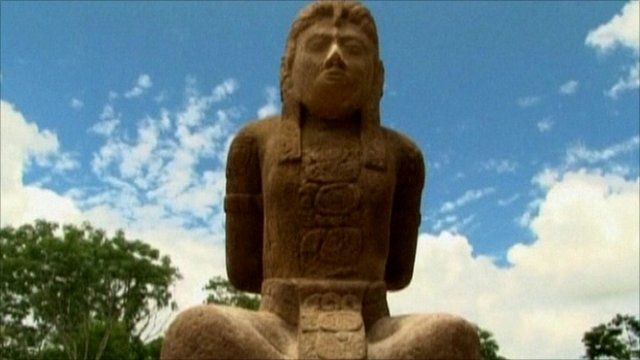 Mayan sculpture in Mexico