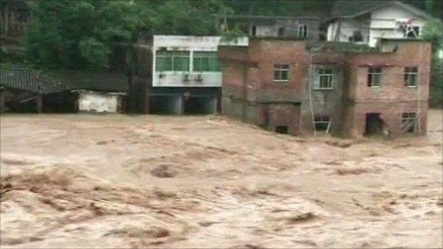 Flood. Sichuan Province