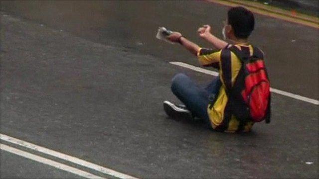 Protester in Malaysia