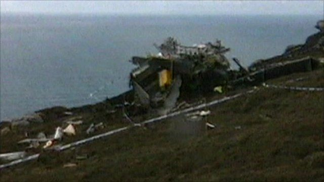 Chinook helicopter crash site