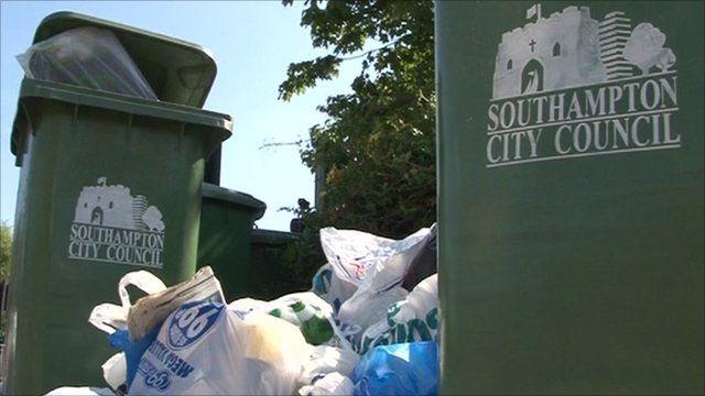 Southampton City Council refuse bins