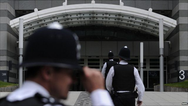 Police at News International HQ