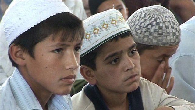 Tajik children at the local mosque.