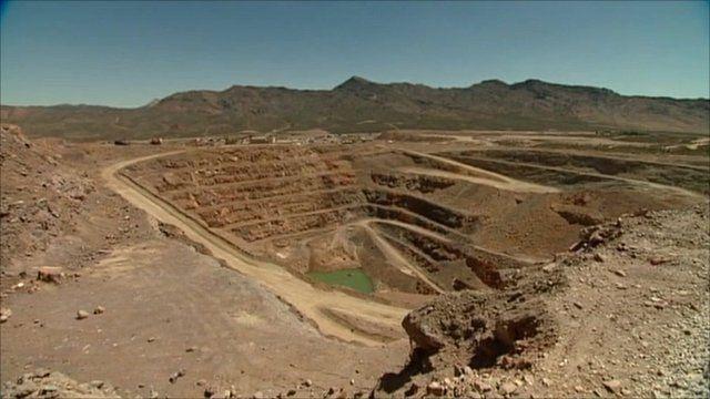 A rare earth mine in the Mojave Desert
