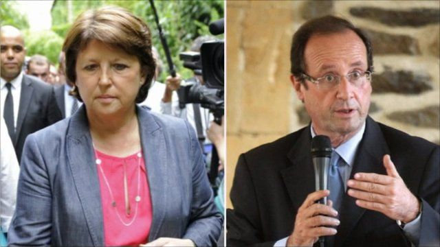 Contenders in French political race