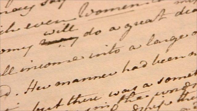 Jane Austen manuscript