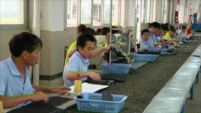 Chinese workers in factory