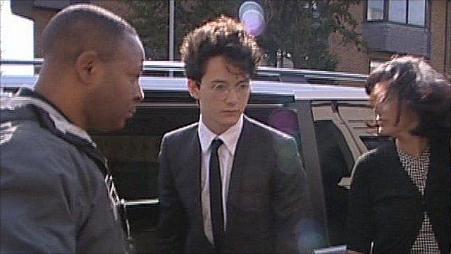 Charlie Gilmour arrives at court