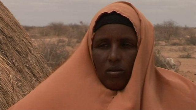 A woman in Kenya