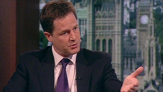 The Deputy Prime Minister, Nick Clegg