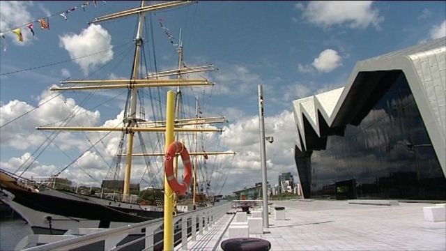 Riverside Museum on Glasgow's Clydeside