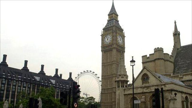 Portcullis House and Big Ben in London