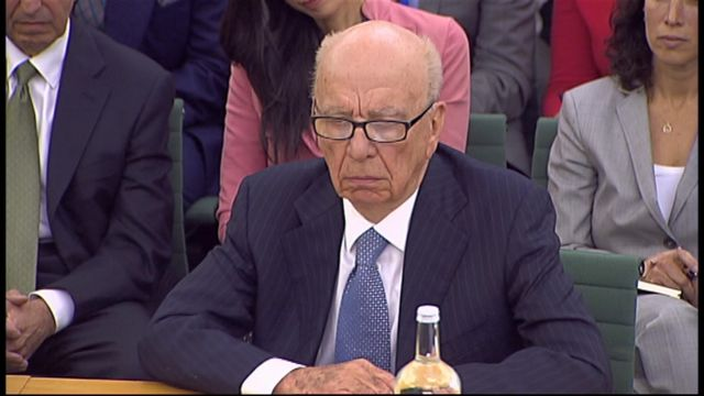 Rupert Murdoch questioned by MPs on hacking scandal