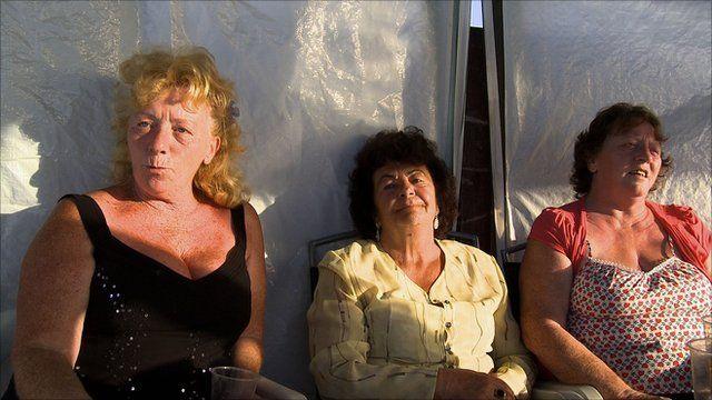 Mimi Sheridan, Mary Ann McCarthy, and Mimi's sister Margret