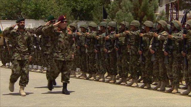 Troops at Lashkar Gah handover