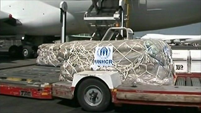 Aid arrives in Kenya