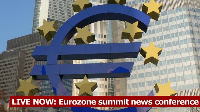 LIVE NOW: Eurozone summit news conference
